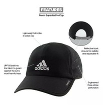 ADIDAS Superlite Cap Pro OSFA Adjustable Running High Performance Black ... - $22.77