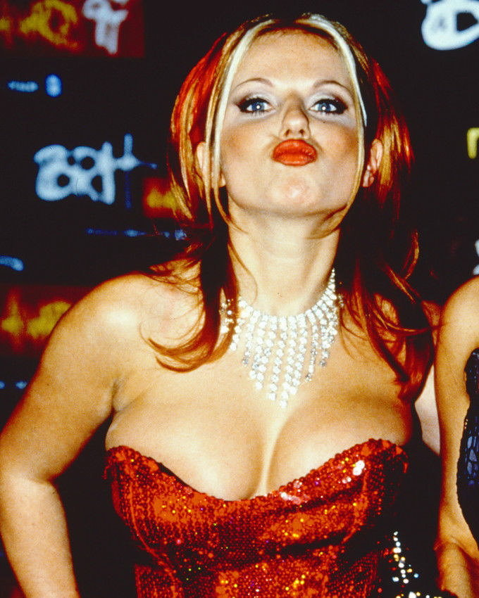 77087 GERI HALLIWELL BUSTY COLOR POUTING PHOTO Wall Print Poster