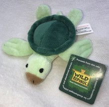 "Wild Republic Baby Green Sea Turtle 3"" Plush Cuddlekins Stuffed Animal Nwt 2013 - $14.99"