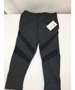 Kathyana Women Tights Dark Gray Slim Fit Stretch Net Style Exercise Size M - $23.36