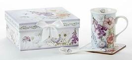 Delton Porcelain Bell Isle Mug Coaster Spoon Set - $24.88