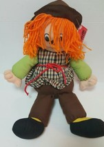 Rare Vintage Sugar Loaf Plush Doll 1991 Scarecrow Medium Sized Stuffed Animal - $12.45