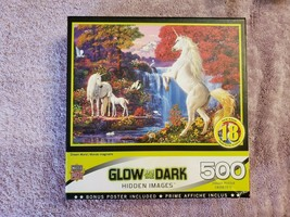 NEW SEALED 500 Piece Puzzle Dream World Glow In The Dark Hidden Images - $24.75