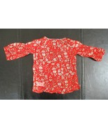 OG Our Generation Doll Peasant Style Top Red Print by Battat - $7.91
