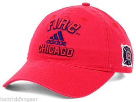 Chicago Fire adidas MLS Soccer Team Red Slouch Cap Hat OSFM - $18.99