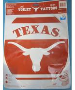 Toilet Tattoos Decal Texas Longhorns University Orange White Bath Decora... - $18.95