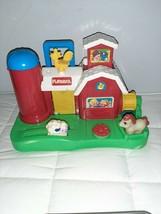 Vintage 1989 Playskool Farm Portable Activity Barn Toddler Preschool Sound - $15.88