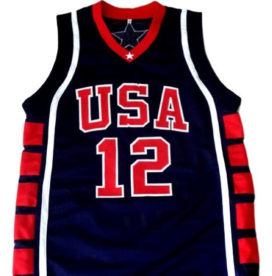 Amare stoudemire  12 team usa basketball jersey navy blue 1