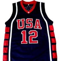 Amare Stoudemire #12 Team USA Basketball Jersey Navy Blue Any Size image 1