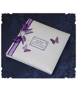 Personalised White Loving Memory  Remembrance Book Funeral | Cellini Alb... - $35.87