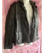 NWT Mens XL Levis Black Leather Jacket with built-in sweatshirt & hoodie - $75.00