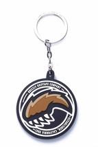 New Grizzly Griptape Company 2 inch Round Black Rubber Bear Paw Keychain