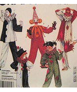 McCalls 2623 Childs 6 to 8 Vintage Clown Costume Pattern  - $4.95