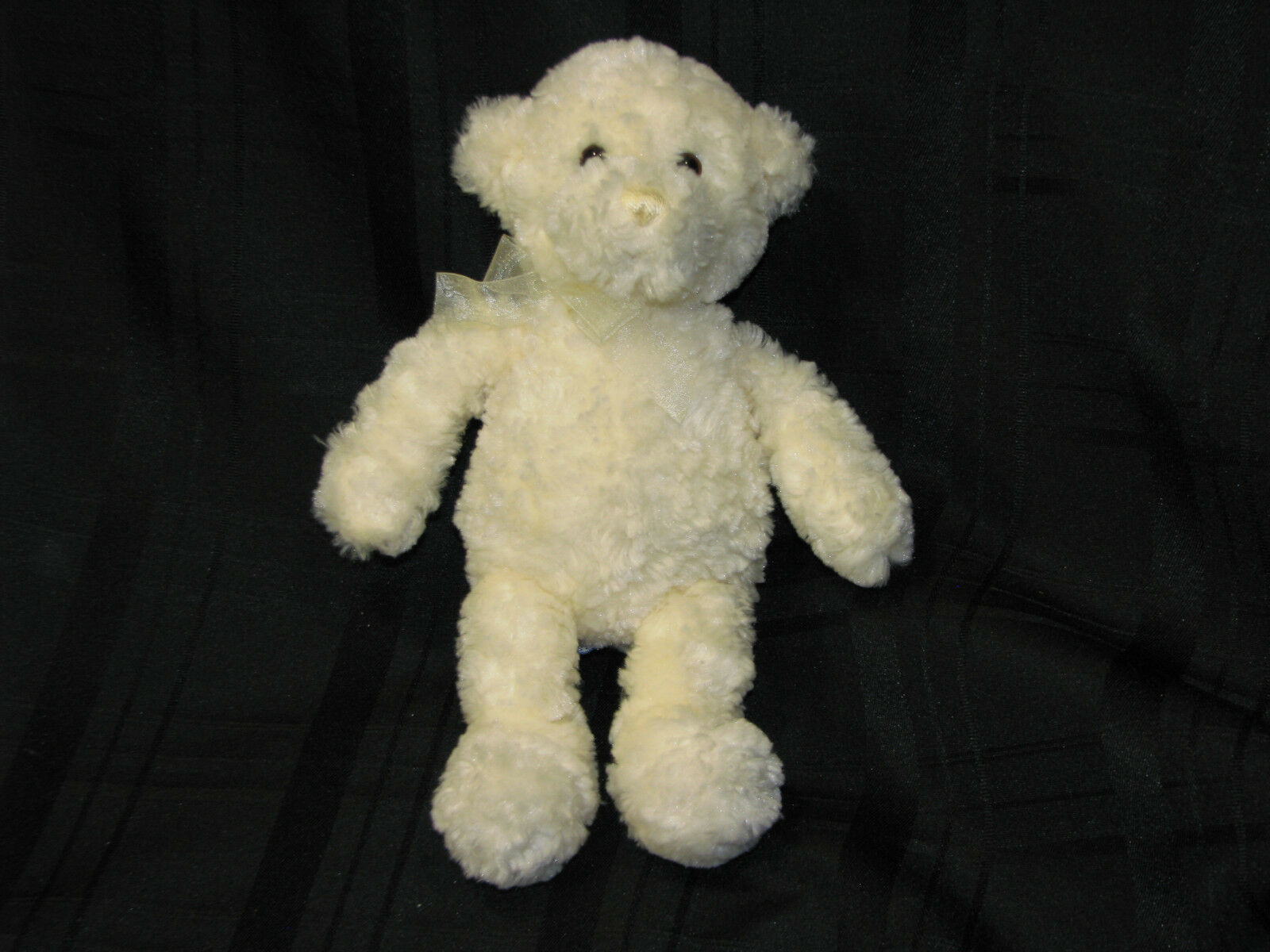 "Primary image for 10"" Baby Gund White Cream Ivory COOKIE Small Stuffed  Plush Teddy Bear 58076 HTF"