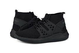 Members Only Men's Knit Sock Mono Fashion Sneaker Black - $70.04