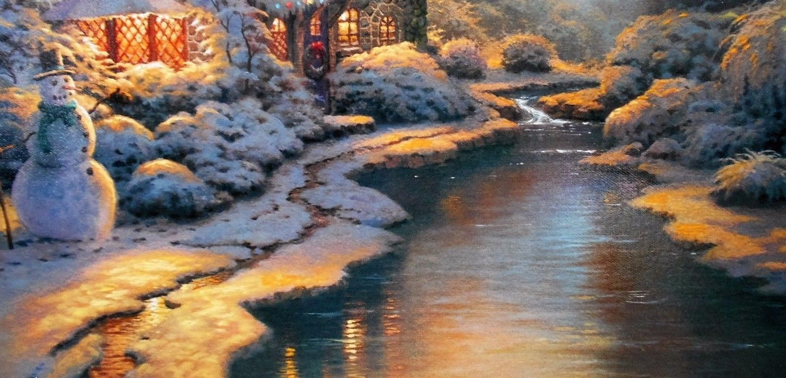 Christmas Evening By Thomas Kinkade Painting
