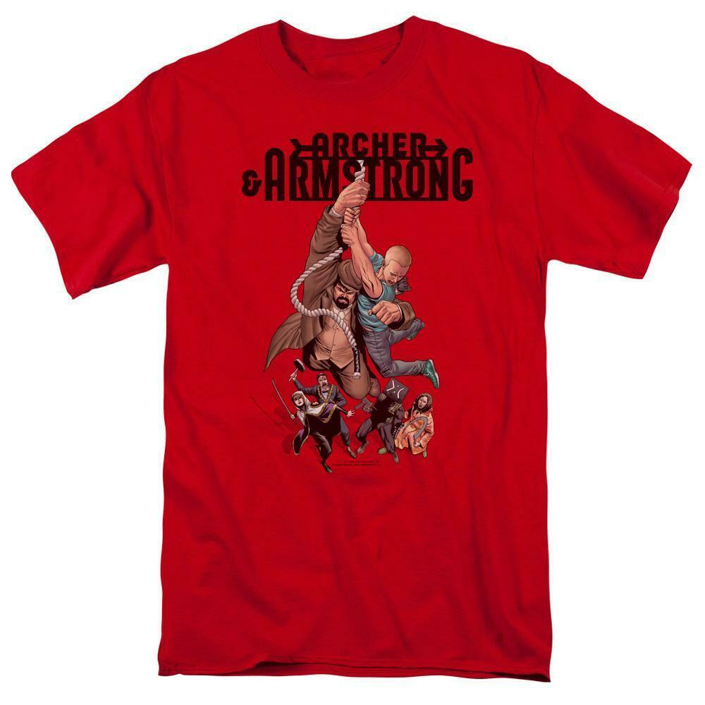 Archer & Armstrong T Shirt Valiant Comics 90s comic book graphic tee red VAL206