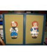 Vintage Jaru Raggedy Ann and Andy Wall Art - $197.95