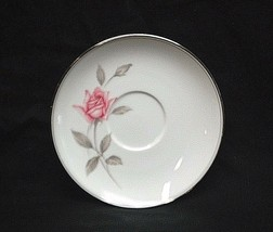 "Vtg. Rosemarie by Noritake Fine China 5-7/8"" Saucer Plate White Pink Roses Japan - $8.90"