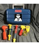 Fisher Price Blue Case Dr Kit Lot Doctor Medical Set Mixed (vintage Pcs)... - $35.74