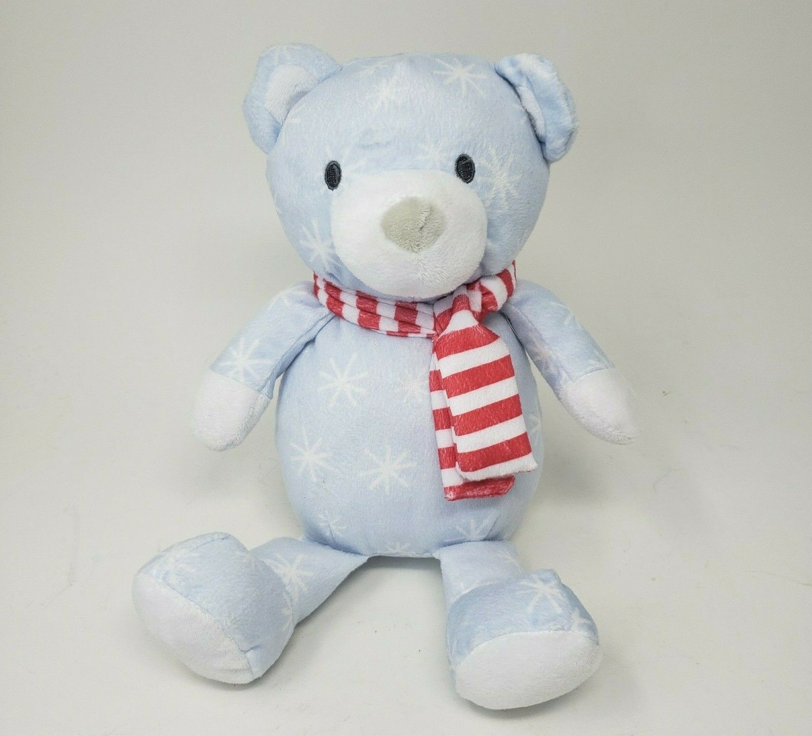 "Primary image for 12"" MANHATTAN TOY PATTERN CHILLY BLUE TEDDY BEAR STUFFED ANIMAL PLUSH TOY W/ TAG"
