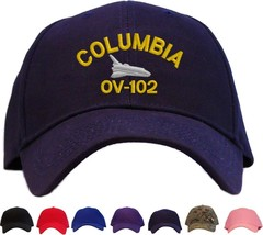 Space Shuttle Columbia Embroidered Baseball Cap - Available in 7 Colors Hat - $21.99