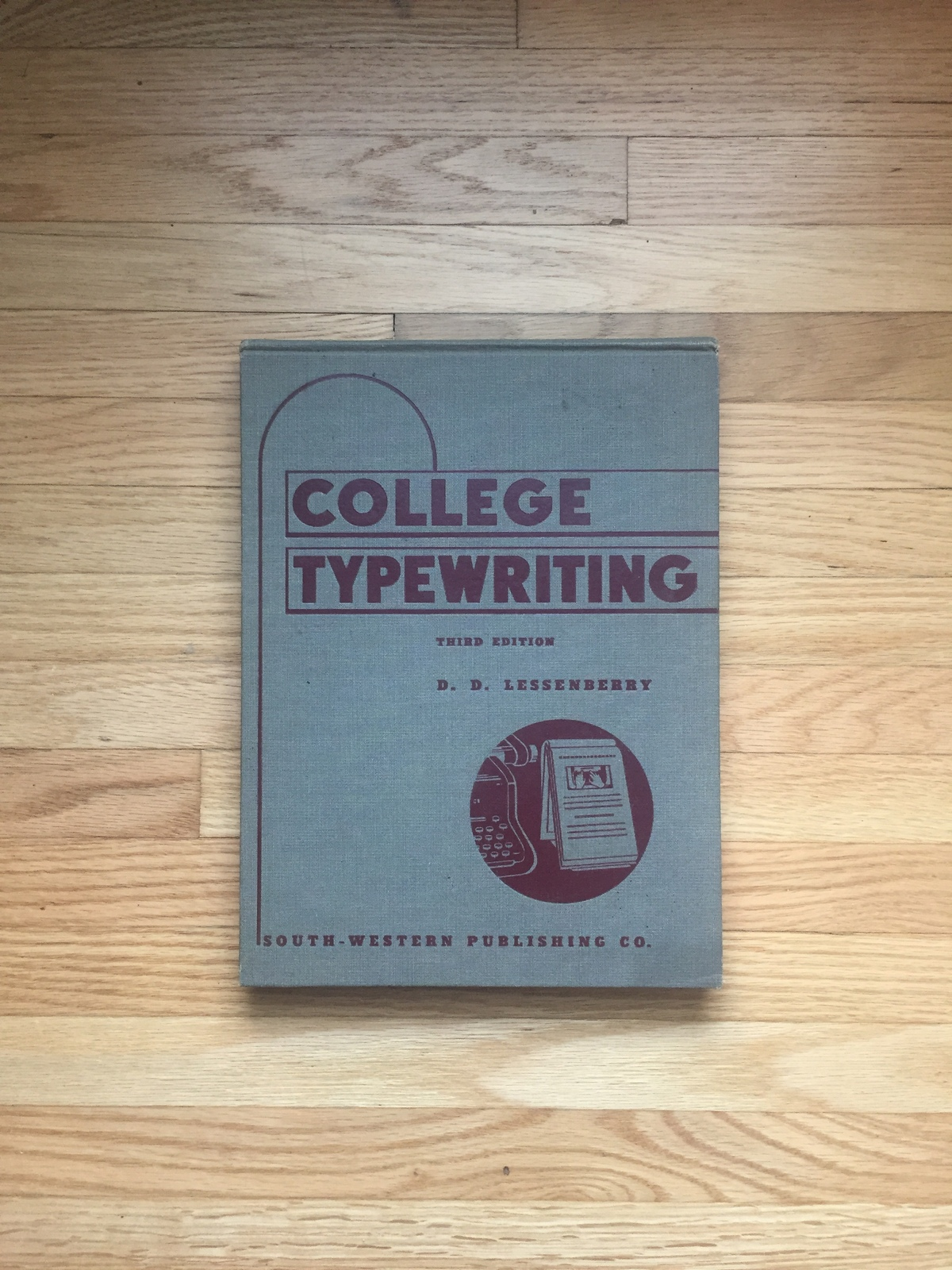1941 College Typewriting Book - Third Edition - by D.D. Lessenberry