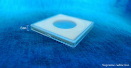6 pcs Sponge Lining Square Coin Holders For 18 23 28 33 38mm White High Quality image 3