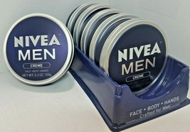 NIVEA Men Creme For Face+Body+Hands 5.3oz LOT OF 6 SEALED - $40.84