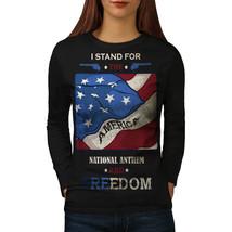 USA Patriot Tee Freedom Gun Women Long Sleeve T-shirt - $14.99