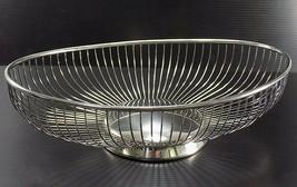 VINTAGE SILVERPLATE WIRE BREAD BASKET EALES OF SHEFFIELD 1779 ITALY GORG... - $29.69