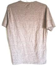 H&M Men's Slim Fit Heathered Brown Crew Neck T-Shirt Size L image 2