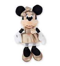 Disney Parks Minnie Mouse Rose Gold 11 inc Plush New with Tags - £23.40 GBP