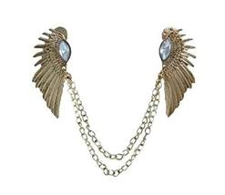 Angle Collar Shirt Collar Pin Collar Chain Brooch Decoration, Golden Wings