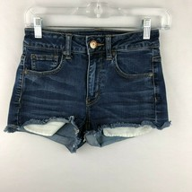 American Eagle Womens 2 Super Stretch Hi Rise Shortie Jean Shorts - $26.72