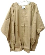 Scrub Jacket 4XL Dilly Uniform Encompass Khaki Tan Round Neck Unisex USA... - $20.34