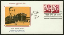 #1305E 15c Oliver Wendell Holmes-Pair, Fleetwood Fdc **Any 4=FREE Shipping** - $1.25