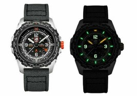 Luminox Bear Grylls Air GMT XB.3761 45mm Black Canvas Swiss Quartz Men's Watch image 2