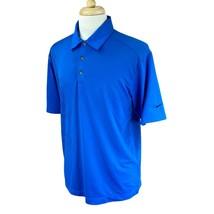 Nike Golf Men's Fit Dry Pullover Short Sleeve Blue Polo Shirt Medium - $21.67