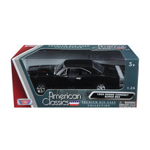1969 Dodge Coronet Super Bee Black 1/24 Diecast Model Car by Motormax 73... - $35.92