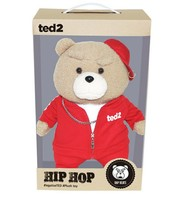 Izen Creation Hippop Stuffed Animal Teddy Bear Plush Toy 35cm 13.7 inches (Red) image 2