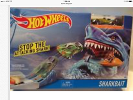 Hot Wheels Shark Bait Track Play Set, Car Included New - $12.82