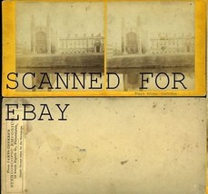 1870s? VINTAGE Kings College Cambridge Mass  Stereoview Photo - $10.00