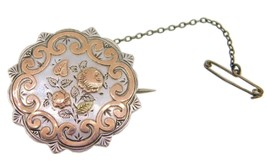 English Sterling Pin with Applied Rose Gold (#J3905) - $142.50