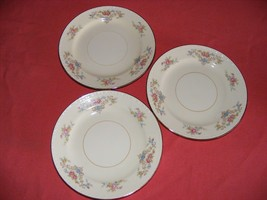 "3 Homer Laughlin Wedgwood 6.25"" Bread Dessert Plates Eggshell Georgian - $12.95"