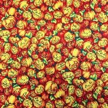 Halloween Fabric Pumpkin Ville by RJR Fabrics 100% Cotton Quilting Sew 1... - $4.50