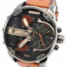 Diesel Men's DZ7332 Mr Daddy 2.0 Gunmetal Brown Leather Watch - $123.75