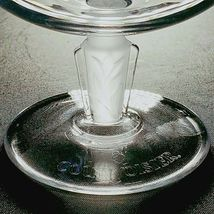 4 (Four) COURVOISIER CRYSTAL COGNAC GLASS / SNIFTER w Frosted Art Deco Stem image 4