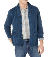 NEW MENS LUCKY BRAND MILITARY SHAWL COLLAR  BUTTON FRONT SWEATER CARDIGAN L - $54.44
