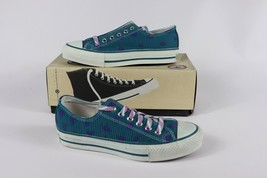 Vtg New Converse Mens 3 Wmns 5 Longjohn Print A/S Canvas Ox Chuck Taylor Shoes - $140.53